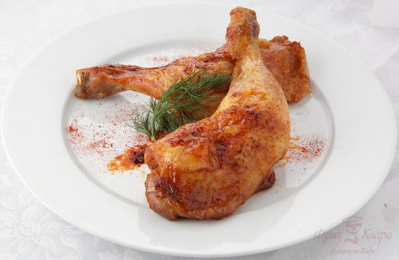 Жареные куриные окорочка с фото